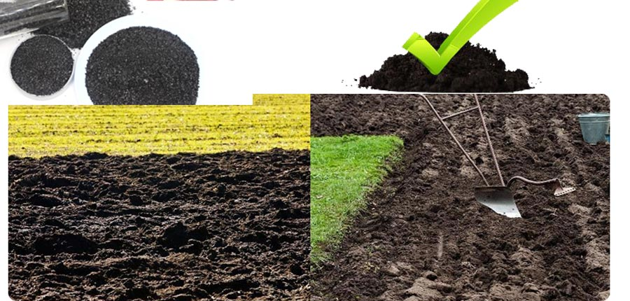The physical effects of humic acid can modify the soil structure