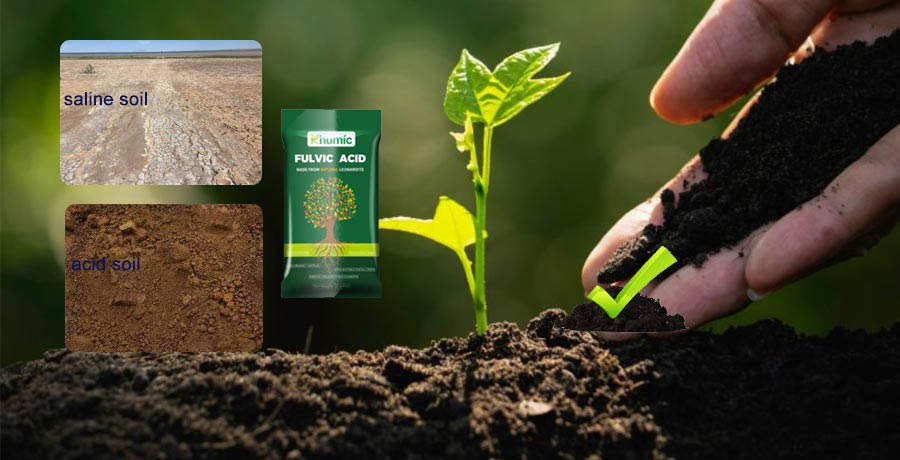 Potassium fulvic acid can effectively adjust the soil PH