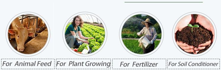 Humic fulvic acidsfor crop fertilizers and soil amendments